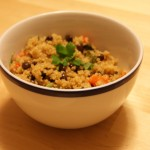 Quinoa with Black Beans and Cilantro