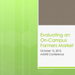 Evaluating an On-Campus Farmers Market at AASHE